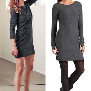 Athleta Carmella Striped Gray Black Dress Xs